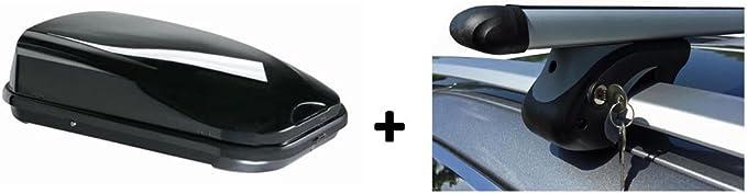 Vdp Dachbox Jufl320 Relingträger Alu 320 Liter Kompatibel Mit Dacia Sandero Stepway Ab 09 Auto