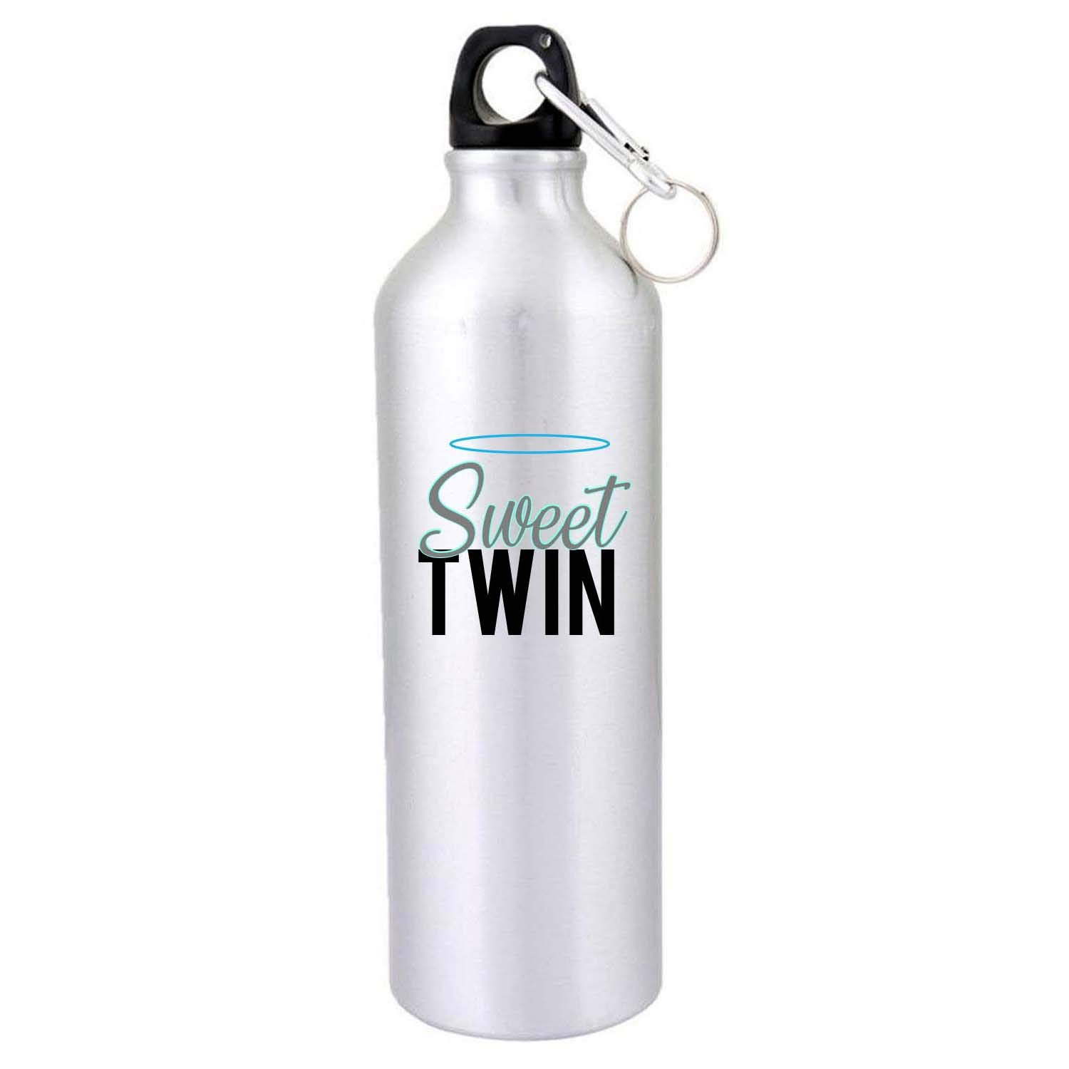 Buy Designer Panda Gifts For Twin Brothers Sisters Sweet Naughty Printed Sipper Water Bottles Gym And Travel Birthday Twins White