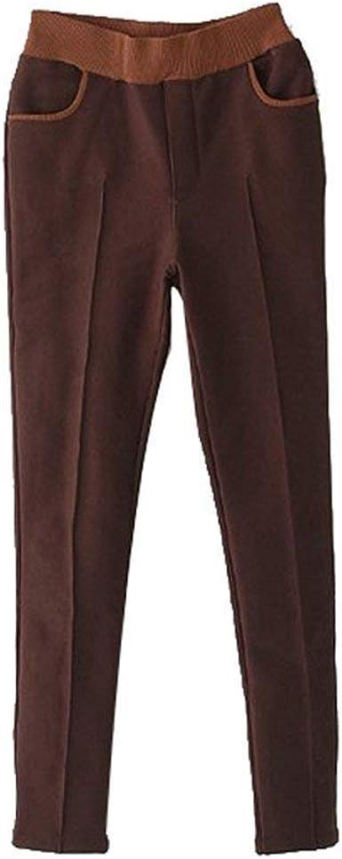 Leggings Moda para Mujer con Vellón Casuales Mujeres Cálido Bolsillos Algodón Grueso Suave Largo Leggins Pantalones Cintura Elástica Pantalones: Amazon.es: Ropa y accesorios