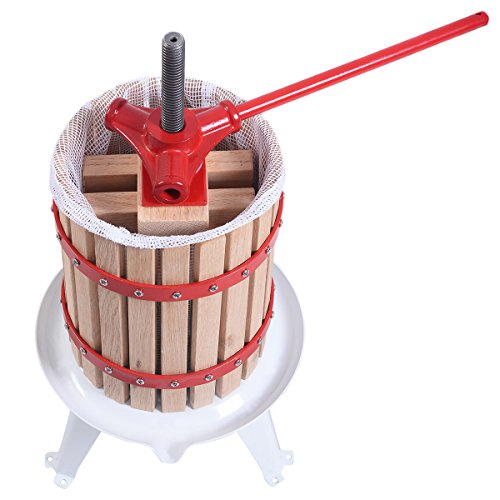 PROSPERLY U.S. Product New 1.6 Gallon Fruit Wine Press Cider Apple Grape Crusher Juice Maker Tool Wood (Fruit Basket Melbourne)