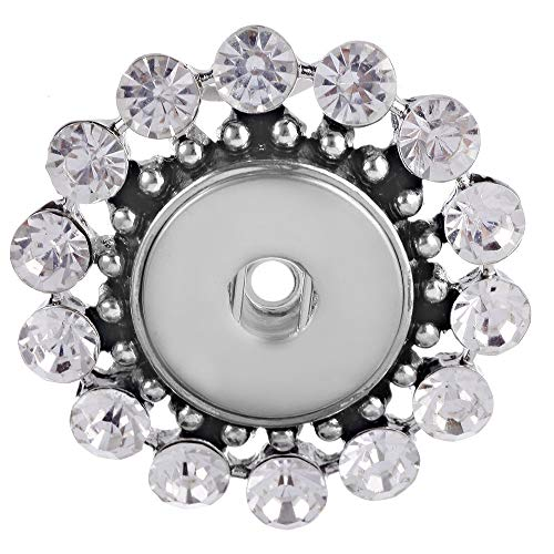 Hot Women Crystal Jewelry Necklace Pendant Fit 18mm Noosa Snap Button N247