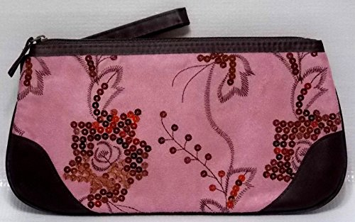 Avon Makeup Bag Cosmetic Case Brown & Pink Clutch - Bag Avon Cosmetic