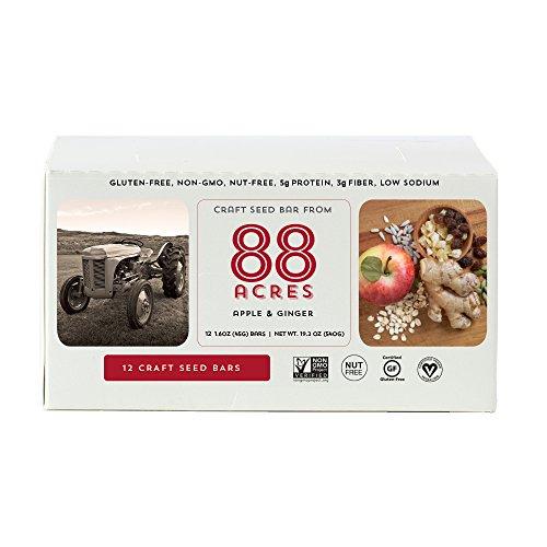 88 Acres, Apple Ginger Granola Bar, 1.6 oz (12 Bars) Apple Granola Bars
