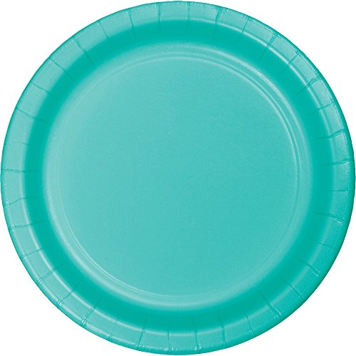 Creative Converting 324772 Touch of Color 240 Count Dinner Paper Plates, Teal Lagoon