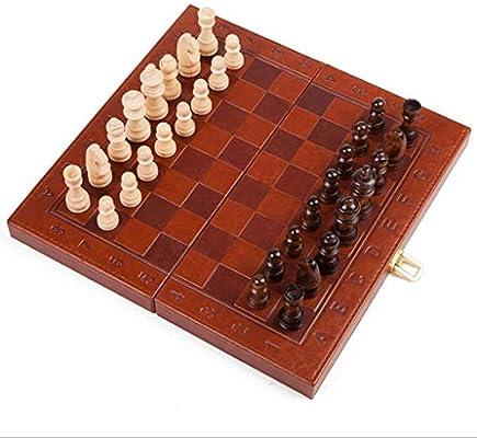 Juego de Ajedrez Cuero de ajedrez Plegable Internacional de Ajedrez Juego de Piezas Set Juego de Mesa Piezas de ajedrez Colección Juego de Mesa portátil Ajedrez (tamaño : S): Amazon.es: Hogar