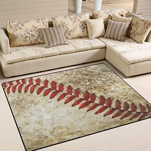 (ALAZA Vintage Stylish Baseball Sport Area Rug Rugs for Living Room Bedroom 7' x 5')