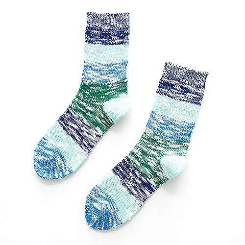 Men's Print Socks, VECDUO Stripe Cotton Pop Multi-Color Warm Winter Wool Socks -
