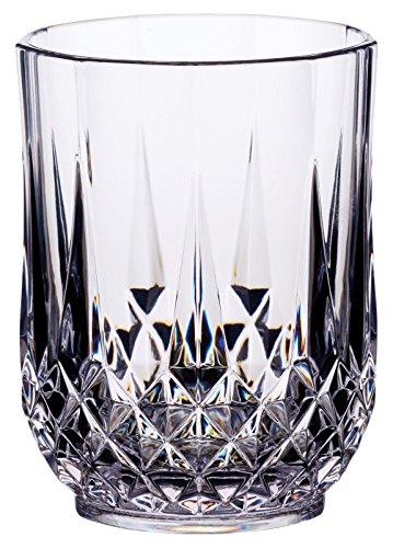 Vaso irrompible de acrilico con capacidad de 400ml y efecto cristal.