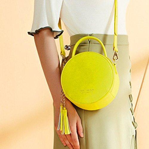 Sac Pour Mode à Messenger Les Sac à Package Sac Bandoulière Femmes Bag Round Yellow Minimaliste à Main Casual Bandoulière Purse wXqIYa