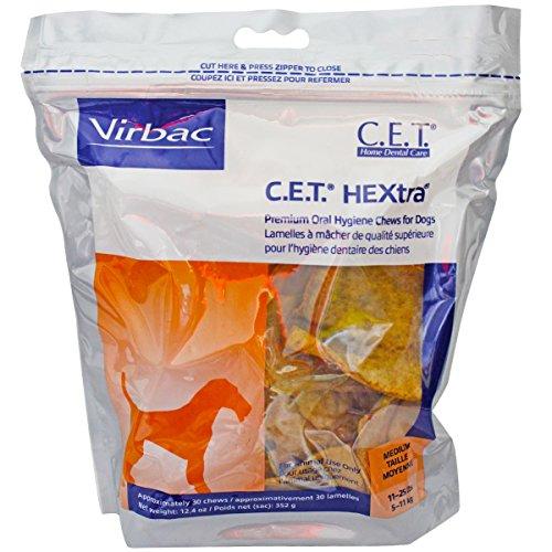 C.E.T. HEXTRA Chews, medium, 30 ct, 2-pack (Hextra Premium Chews)