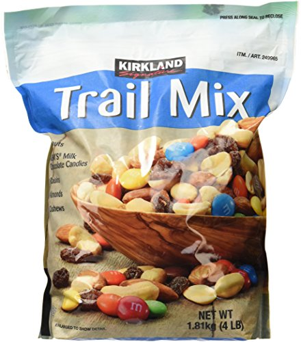 Signature Trail Mix, Peanuts, M and M Candies, Raisins, Almonds and Cashews, 4 Pound (Dry Trail Mix)