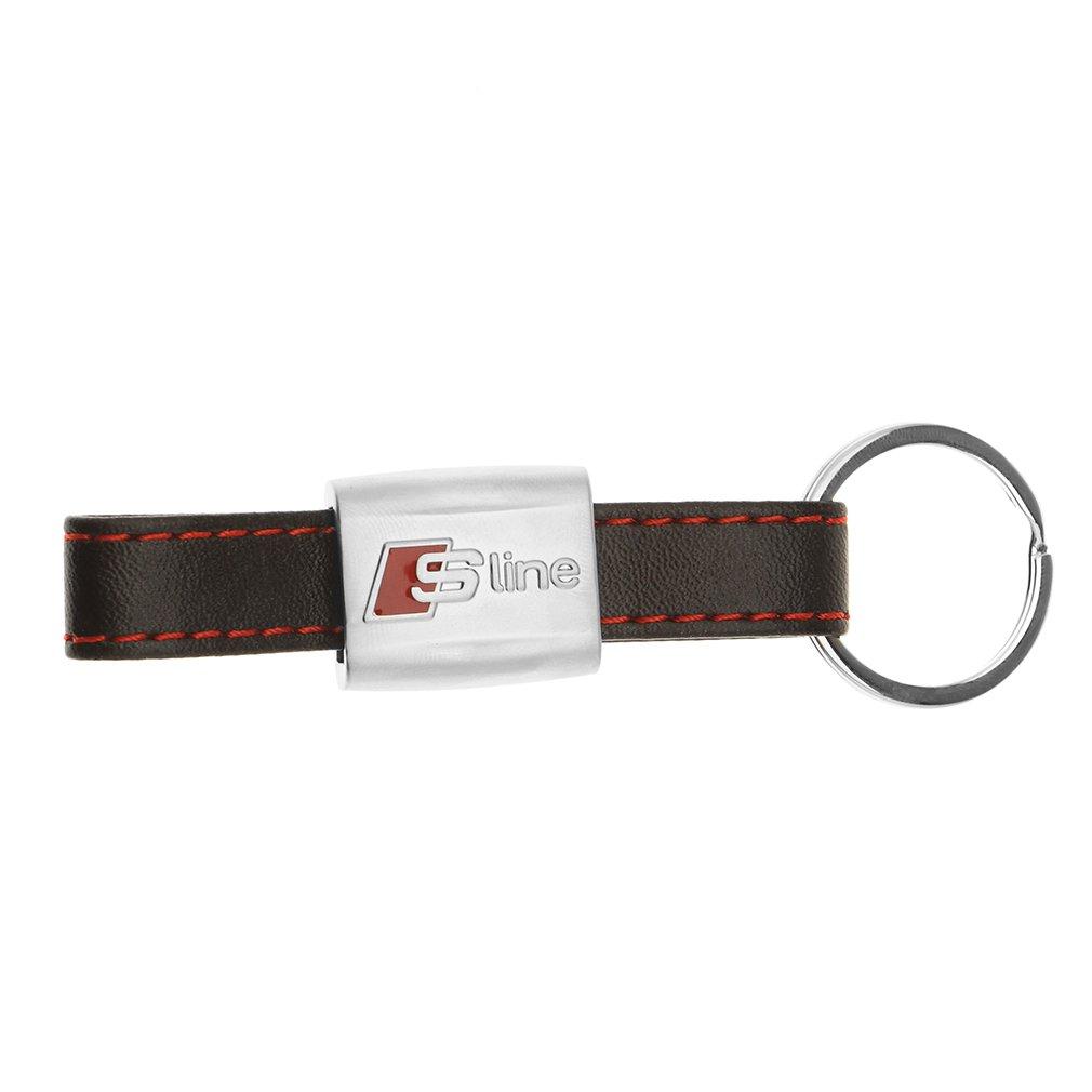 AUDI 3181900700 S-Line Metal Leather Keyring