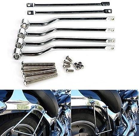 Universal Edelstahl Motorrad Hinter Seite Tasche Gepäcktaschen Satteltasche Stützstangen Halterung Auto