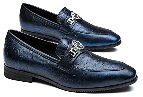 cheap great deals OPP Mens Dress Shoes Textured Leather Glitter Metallic Strap Navy Blue sale store clearance websites free shipping shop for m2o79Lu