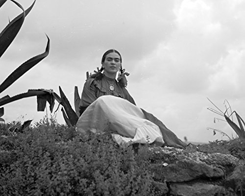 ClassicPix Photo Print 16x20: Frida Kahlo (Senora Diego Rivera) Seated Next to an Agave Plant.