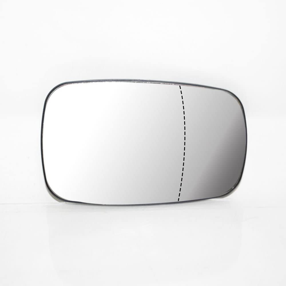 Right Side Wing Mirror Glass /& Base Wide Angle Door Heated Compatible With Clio 2006-2009 Scenic 2003-2009 OEM 3800957041326