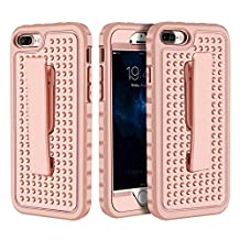 """iPhone 7 Plus Case, iPhone 7 Plus 5.5"""" Belt Clip Case, Asstar Ultra Thin Shock Reduction Sure Grip Rugged Armor Protective Cover with Locking Belt Clip for Apple iPhone 7 Plus (Rose gold)"""