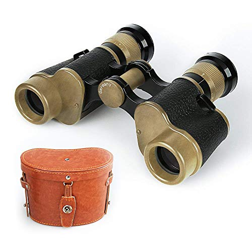 Tsumbay Binoculars, 6X24 HD Military Binoculars Telescope Wide Angle Military Marine Binoculars Scope with Low Light Night Vision, Leather Carry Case, for Hunting, Bird Watching, Traveling Concerts For Sale