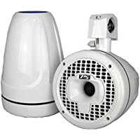 SPORT8-WD, 8 High Performance, Best Marine Wakeboard Tower Speakers, with Dual Front & Rear Speakers, White.