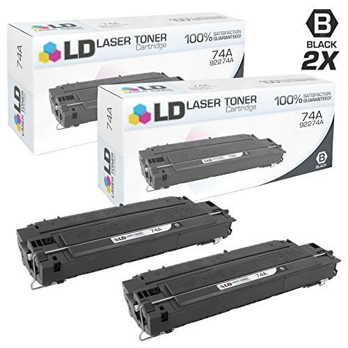 LD Remanufactured Toner Cartridge Replacement for HP 74A 92274A (Black, 2-Pack) (Hp Laserjet 4mp Printer)