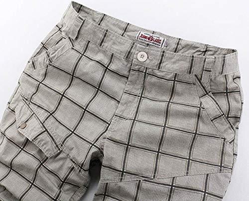 Bolsillos Pantalones Cortos Marca Monos Bermudas A Mode 77 Bolawoo Hombres De Mezclilla Casual Múltiples Cuadros Mig Chinoshorts Para qE7ZnwCP