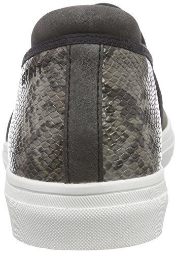 Noir Basses Baskets Femme Schwarz 001 Yendis Esprit Black Slip On OW1APIUY