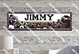 Baltimore Ravens - 10''x31'' Personalized Name Poster with Hard Frame, Customize Name Sign, Birthday Party Banner