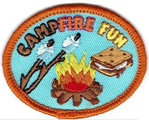Cub Girl Boy CAMPFIRE Embroidered Iron-On Fun Patch Crests Badge Scout - Patch Cub Boy Scout