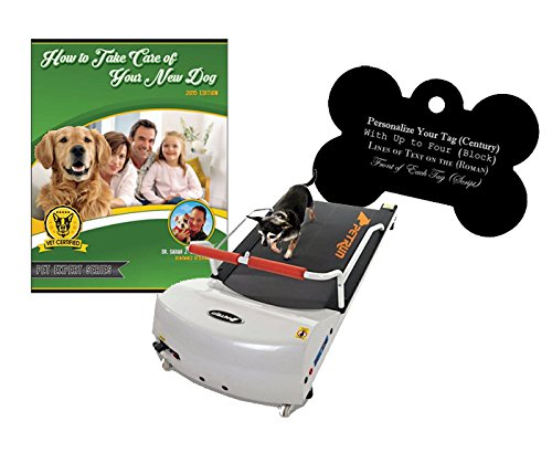 GoPet Petrun Indoor Exercise Treadmill for Dogs Up to 44 Pounds (Model #: PR-700) with FREE Custom Bone Shaped Dog Tag and E-Book by GoPet