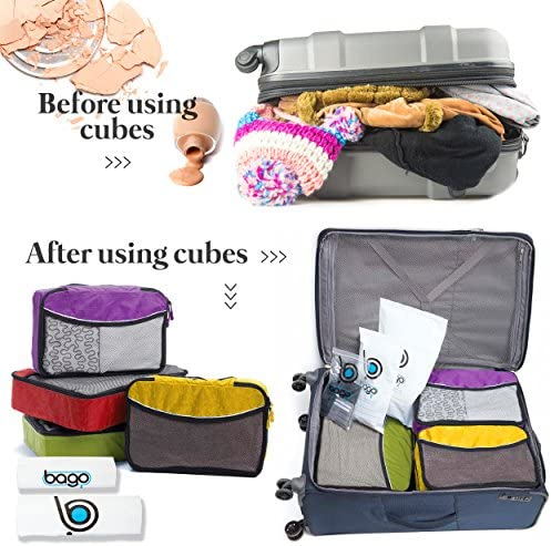 Bago Packing Cubes for Travel - Luggage & Suitcase Organizer - Cube Set