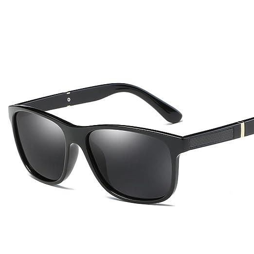 233244ba74d4 Men Polarized Sunglasses Matte Black Male Sun Glasses Rectangle Driving  (black)