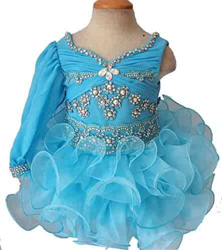 f269750ee Jenniferwu Infant toddler baby newborn little Girl's Pageant party birthday  Dress 3months to size7 G189