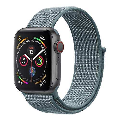 (FOLU Reflective Band Compatible with iWatch Nylon Sport Loop 42mm 44mm Series 4/3/2/1,Metal Plug,Soft Breathable Replacement Strap for Women Men)
