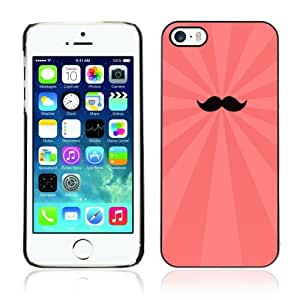 Designer Depo Hard Protection Case for Apple iPhone 5 5S / Cool Moustache