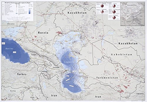 Map: 2012 Oil and gas infrastructure in the Caspian Sea region : March 2012|Asia|Central|Caspian Sea Region|Former Soviet Republics|Gas Fields|Oil and Gas Leases|Oil Fields|Pipelines