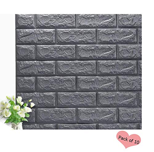 PE Foam Wallpaper,3D Brick Self-Adhesive Panels Faux Brick Stone Textured Embossed Wall Sticker,for Kitchen Toilet TV Sofa Background Living Room Bedroom Home Office Wall DIY Decoration - Embossed Self Adhesive