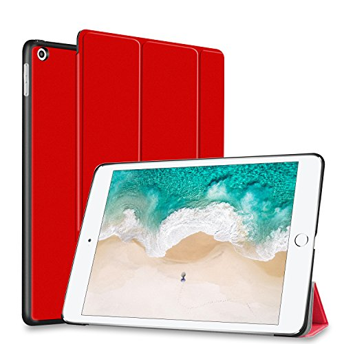 Price comparison product image New iPad 9.7 Inch 2018 / 2017 Case,  SUMOON Ultra Slim Lightweight Smart Case Trifold Cover Stand with with Auto Sleep / Wake Function for the Apple iPad 9.7 iPad 5th / 6th Generation (Red)