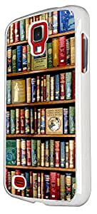 Samsung GALAXY S4 MINI Vintage Library Look Books Shelves 4 Design Case Back Cover Hard plastic / Thin Metal