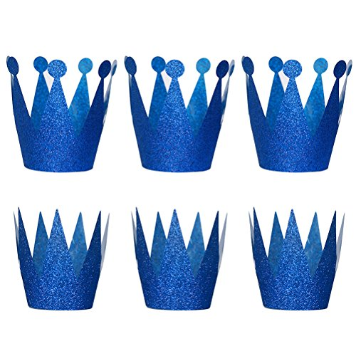 Crowning Baby Costume (NUOLUX Birthday Crown Hats Party Hats Princess Prince Crowns for Kids,6PCS)