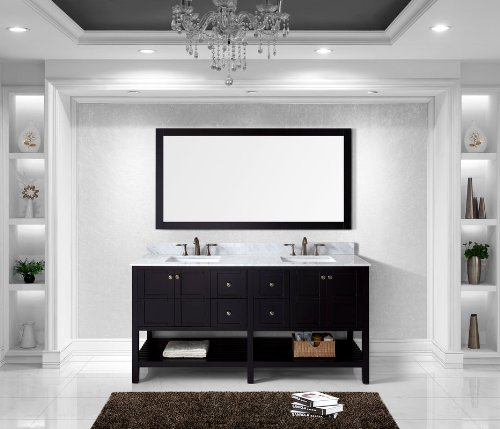 Virtu Usa Ed 30072 Wmsq Es Winterfell 72 Inch Double Bathroom Vanity Set  Espresso