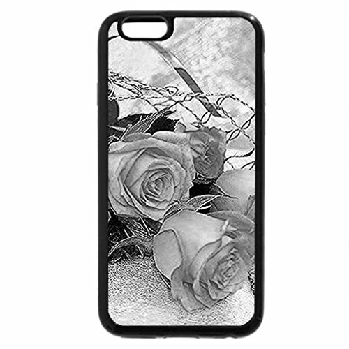 iPhone 6S Plus Case, iPhone 6 Plus Case (Black & White) - Beautiful roses