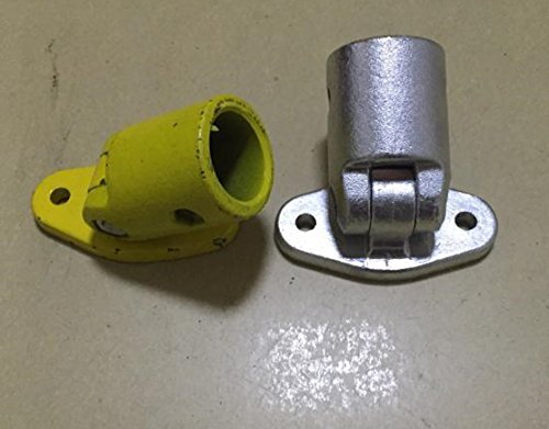 Cast aluminum, steel pipe fittings, Angle adjustable bracket base, two screws, DN32MM, handrail fittings
