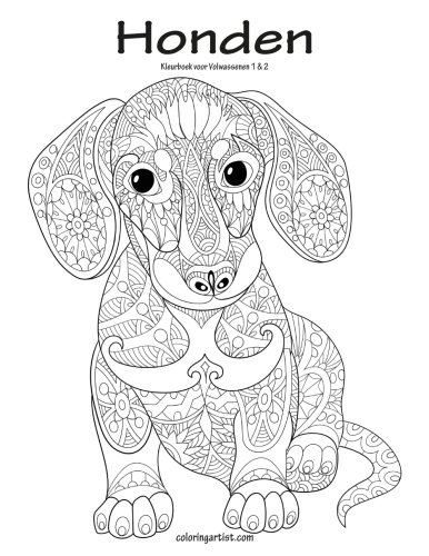Honden Kleurboek voor Volwassenen 1 & 2 (Dutch Edition)