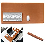 Yikda Extended leather Gaming Mouse Pad/Mat, Large Office Writing Desk Computer leather Mat