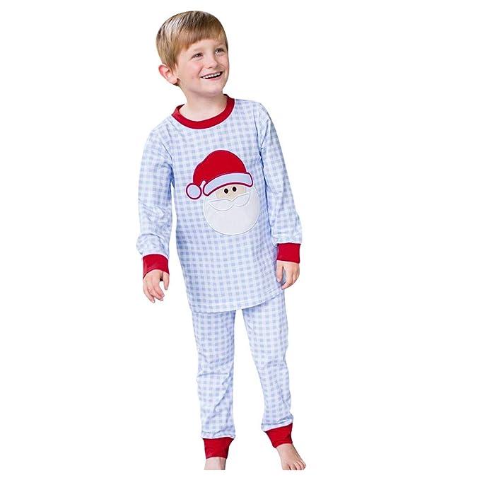 LUNULE Pijamas de Navidad Bebé Niños Niñas Navidad Papá Noel ...
