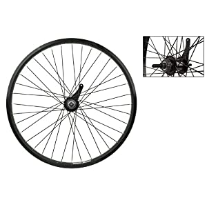"Wheel Master 24"" Cruiser/Comfort Rear Wheel Weinmann AS7X Rim, 36H, Coaster Hub, Black"