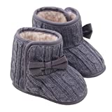Nicerokaka Baby Infant Soft Bowknot Winter Warm Shoes Boots