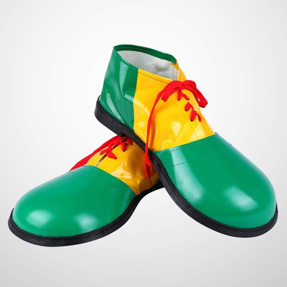 BESTOYARD Zapatos de Payaso de Carnaval Zapatos de bufón Fiesta ...