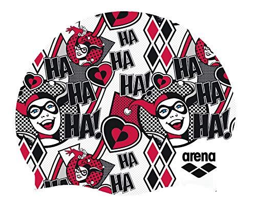 Arena WB Superheros Silicone Jr Youth Swim Cap, Harley Quinn