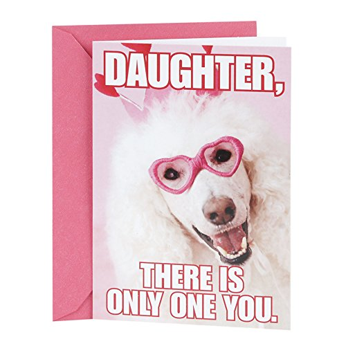 Hallmark Shoebox Funny Birthday Greeting Card for Daughter (Dog with Glasses)